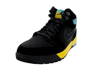 Nike Jordan Men's Air Jordan 1 Trek Black/Gamma Blue/Varsity Maize Boot 8 Men US