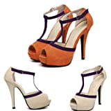 Zehui Sexy Vogue Women Pumps Stiletto Platform Peep Toe Buckle High Heels Shoes Sandal