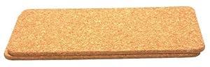 T & G Woodware Trivet rectangular natural cork 40x20 cm, pack of 2