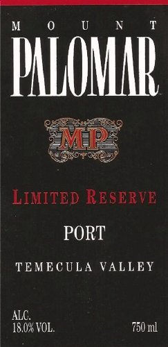 Nv Mount Palomar Limited Reserve Port 750 Ml