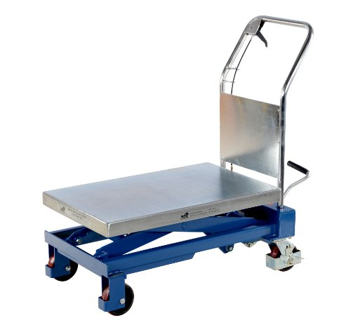 "Vestil Cart-1000-Ts Hydraulic Elevating Cart, 1000 Lbs Capacity, 32"" Length X 19-3/4"" Width Platform"