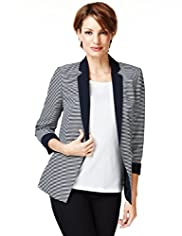 Notch Lapel Narrow Striped Tailored Jacket