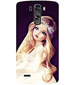 Evaluze attractive girl Printed Back Case Cover for LG G4