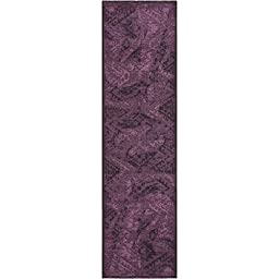 Safavieh Palazzo Collection PAL122-56C7 Black and Purple Runner, 2 feet by 7 feet 3 inches (2\' x 7\'3\