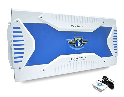 Pyle PLMRA820 8-Channel 3000 Watt Waterproof Marine Grade Bridgeable MOSFET Amplifier