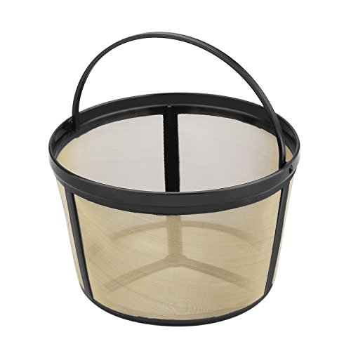 Nicelucky Basket-Style Gold Tone Permanent Coffee Filter Designed for Mr.Coffee 8-12 Cup Coffeemakers (Permanent Coffee Filter 10 12 compare prices)