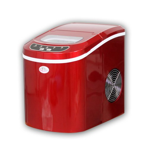 TecTake Deluxe Ice Maker red