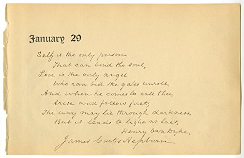 James Curtis Hepburn - Physician & Missionary - Autographed Quotation (Aqs)