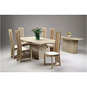 small dining table 6 dining chairs marble monaco