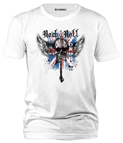 """Sputnik-Shirts - Maglietta stile British """"Rock`n`Roll London 72"""", taglie dalla S alla 5XL"""