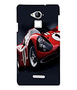 printtech Superfast Car Back Case Cover for COOLPAD NOTE 3 / COOLPAD NOTE 3 PLUS