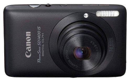 Canon PowerShot SD1400IS 14.1 MP Digital Camera with 4x Wide Angle Optical Image Stabilized Zoom and 2.7Inch LCD (Black)