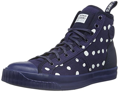 G-Star Raw FALTON WMN TWILL Sneaker, Donna, Grigio (dk navy-881), 38