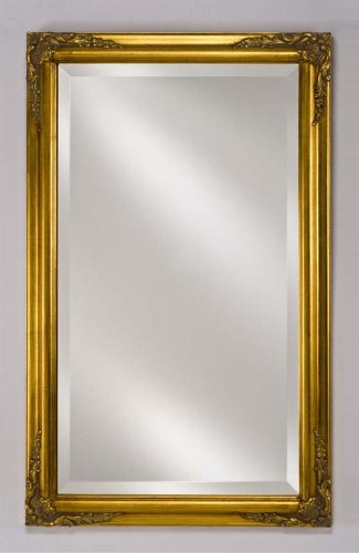 "Estate Collection Rectangular Framed Wall Mirror Finish: Antique Gold, Size: 16"" X 22"" front-954675"