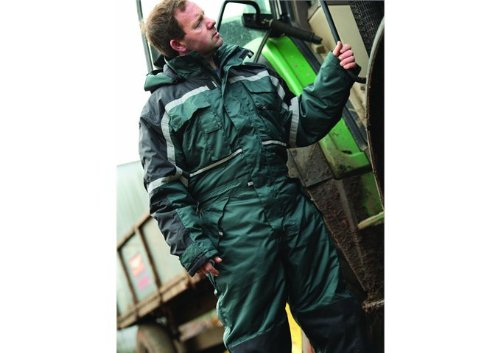 Dickies Waterproof Padded Coverall, Green, Medium