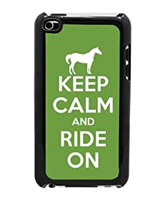 Amazon.com: Keep Calm and Ride On - Green Case for iPod Touch 4th