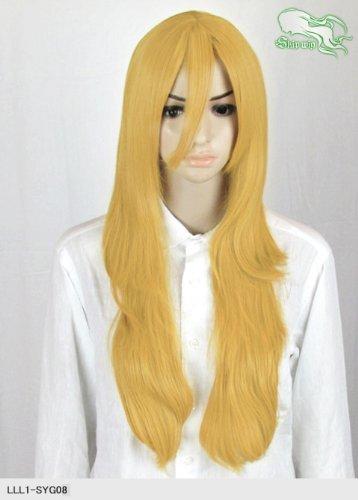 スキップウィッグ 魅せる シャープ 小顔に特化したコスプレアレンジウィッグ フェザーロング ダークゴールド