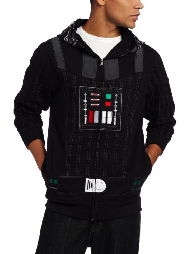 Star Wars Men'S Sith Full Face Fleece Hoodie, Black, Large