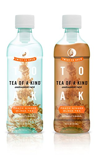 Tea Of A Kind Black Tea, Peach Ginger, 16 Ounce (Pack Of 12)