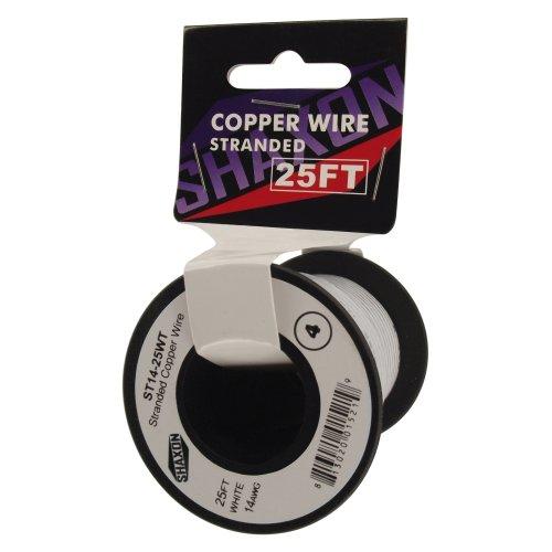 Shaxon St14-25Wt 25-Feet On Spool Stranded Copper Wire, White
