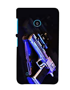 Fuson Premium Revolver Printed Hard Plastic Back Case Cover for Nokia Lumia 530