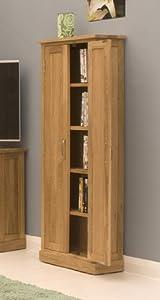 Cheapest  Tall Dvd Cd Storage Cupboard Mobel Solid Premier Oak