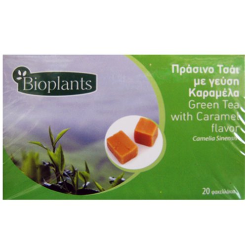 Bioplants Caramel Green Tea Sachets 30 g (Pack of 4)