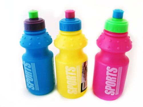 3 X Sports Reusable Bottle Plastic 8Oz With Sip Top front-1035048