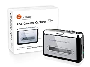 Promotion TaoTronics TT-CM001 USB Portable Tape Cassette To MP3 Converter Tape-to-MP3 Capture Adapter Digital Audio Music Player With Headphones and Software Cd- FOR PC