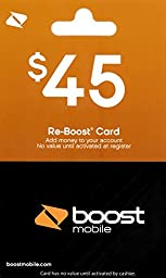 Boost Mobile $45 Gift Card