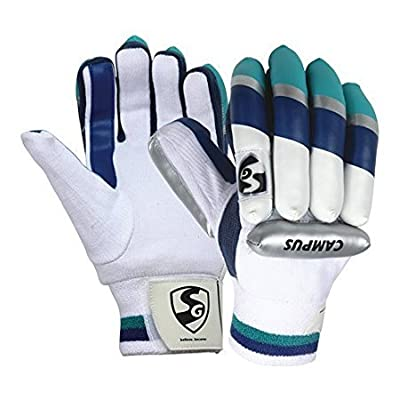 SG Campus Right Hand batting Gloves-Small Boys (White/Blue)