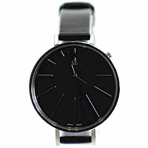 Calvin Klein Women's K3E231C1 Equal Black Leather Analog Watch