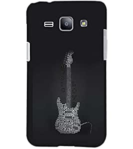 PrintDhaba MUSIC LOVE D-6605 Back Case Cover for SAMSUNG GALAXY J1 (Multi-Coloured)