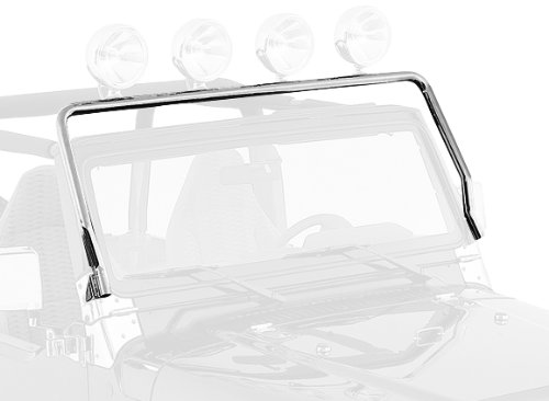 Rugged Ridge 11138.01 Stainless Steel Windshield Hinge Mount Light Bar