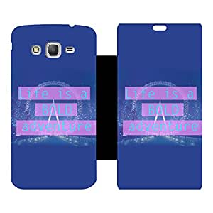 Phone Candy Designer Flip Cover with hi-res printed Vinyl sticker wrap-around for Samsung Galaxy Grand Prime