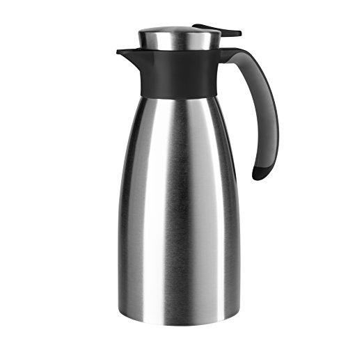 Emsa 508932  Isolierkanne, Edelstahl, 1 Liter, Quick Tip...