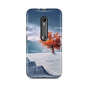 Motivatebox - Moto X Style Back Cover - Lone Desert Tree Polycarbonate 3D Hard case protective back cover. Premium Quality designer Printed 3D Matte finish hard case back cover.