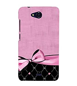 Classic Bow Design 3D Hard Polycarbonate Designer Back Case Cover for Micromax Canvas Play Q355