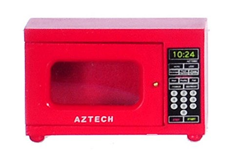 Dollhouse Miniature 1:12 Scale Red Microwave #T5960