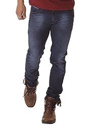 RACE-Q Dark Blue Washed Jeans for Men