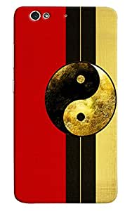 Omnam Red Yellow Pattern Printed Designer Back Cover Case For Gionee S6