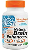 Doctor's Best Natural Brain Enhancers, Vegetable Capsules, 60-Count