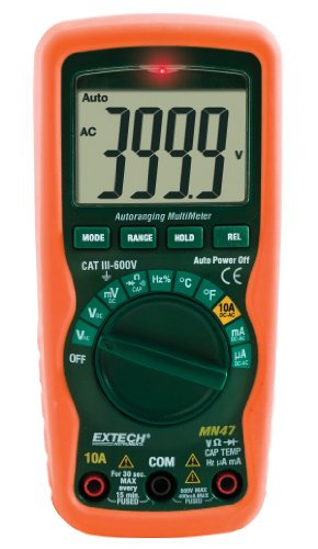 Extech Mn47 12 Function Compact Multimeter + Ncv