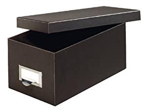 Globe-Weis Fiberboard Index Card Storage Box, 3 x 5 Inches, Solid Black (3X5BLA)
