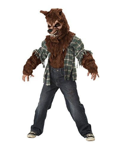 Howling At The Moon Werewolf Child Costume Color:Brown | Size:Xtra Large