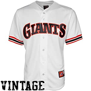 MLB San Francisco Giants Mens Cooperstown Throwback Replica Jersey, White by Majestic