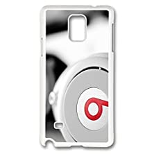 buy Galaxy Note 4 Case, Creativity Design White Beats Headphones Ideas Print Pattern Perfection Case [Anti-Slip Feature] [Perfect Slim Fit] Plastic Case Hard White Covers For Samsung Galaxy Note 4