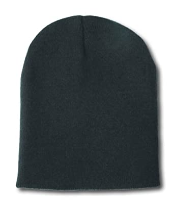 Blank Short Beanie Hat- Many Colors Available- Black