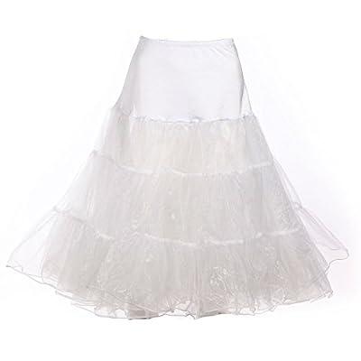 BOOLAVARD Women's 50's Petticoat Underskirt Retro Vintage Swing