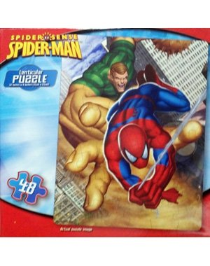 Spider Sense Spider-man vs. Sandman 48 Piece Lenticular Puzzle